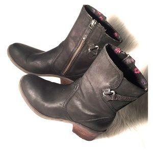 TEVA motorcycle boots moto black leather